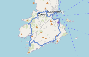 Cycling route in Greece starting from Syros