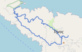 Cycling route in Greece starting from Tinos