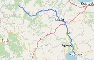 Cycling route in Greece starting from Feneos