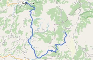 Cycling route in Greece starting from Kalavrita