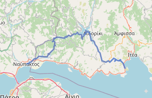 Cycling route in Greece starting from Galaxidi
