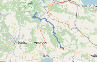 Cycling route in Greece starting from Pavliani