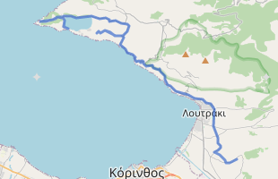 Cycling route in Greece starting from Sport Camp Loutraki
