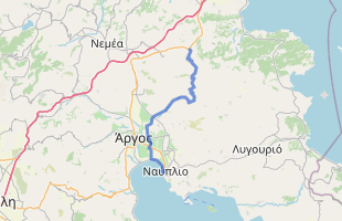 Cycling route in Greece starting from Chiliomodi