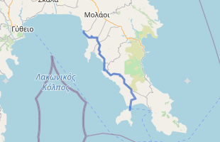 Cycling route in Greece starting from Elafonisos