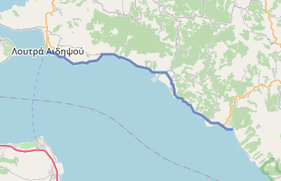 Cycling route in Greece starting from Aidipsos