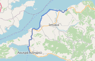 Cycling route in Greece starting from Artemisio