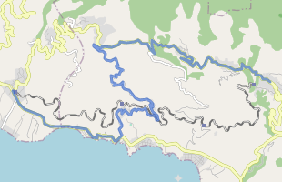 Cycling route in Greece starting from Milies