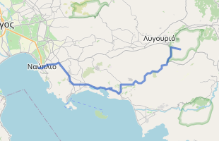 Cycling route in Greece starting from Epidaurus