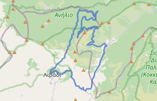 Cycling route in Greece starting from Dimatis Hotel