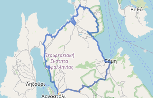 Cycling route in Greece starting from Argostoli