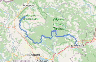 Cycling route in Greece starting from Metsovo