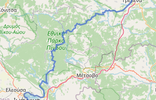 Cycling route in Greece starting from Grevena