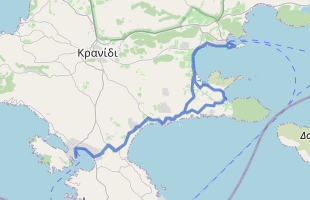 Cycling route in Greece starting from Porto Cheli