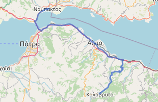 Cycling route in Greece starting from Nafpaktos