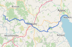 Cycling route in Greece starting from Dimitsana