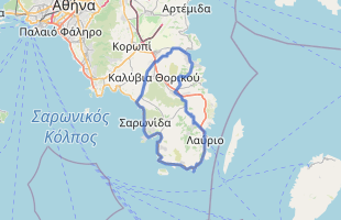 Cycling route in Greece starting from Porto Heli