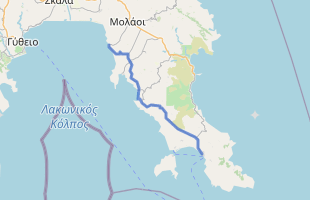Cycling route in Greece starting from Neapoli