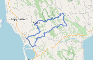 Cycling route in Greece starting from Costa Navarino