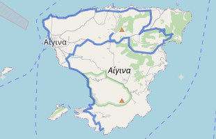 Cycling route in Greece starting from Aegina