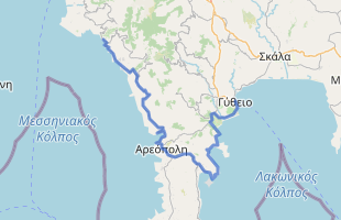 Cycling route in Greece starting from Kardamili