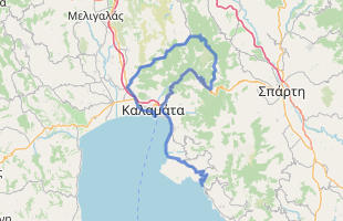 Cycling route in Greece starting from Kalamata