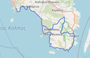 Cycling route in Greece starting from Vouliagmeni