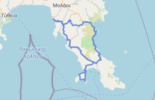 Cycling route in Greece starting from Elea