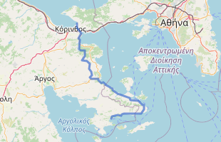 Cycling route in Greece starting from Loutraki