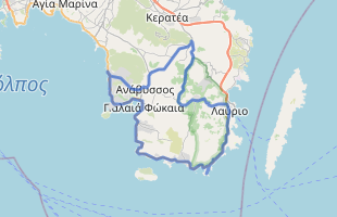 Cycling route in Greece starting from Saronida