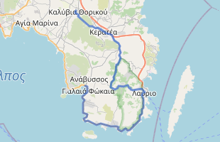 Cycling route in Greece starting from Anavissos