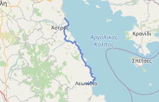 Cycling route in Greece starting from Leonidio