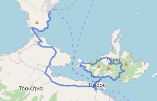 Cycling route in Greece starting from Methana