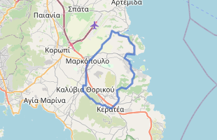 Cycling route in Greece starting from Porto Rafti